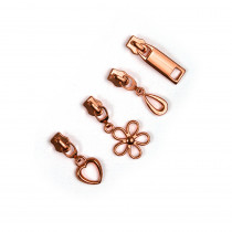 Voodoo Bag Hardware (size #5) Zipper Pulls Copper