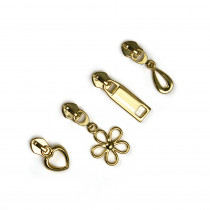 Voodoo Bag Hardware (size #5) Zipper Pulls Gold