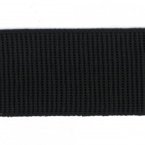"Birch Creative Ribbed Non Roll Elastic 50mm (2"") Wide Black"