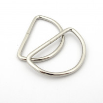 "Voodoo Bag Hardware D-Ring 50mm (2"") Silver - 4 pk"