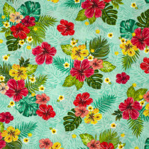 Isla Hibiscus Aqua by Windham Fabric
