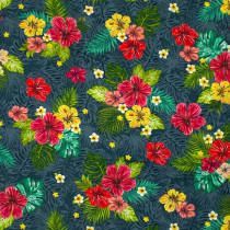Isla Hibiscus Breeze Dark Blue by Windham Fabric
