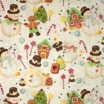 Candyland Snowman Natural by Alexander Henry Fabrics