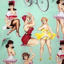 Good and Plenty (voluptuous pinup girls) Mint by Alexander Henry