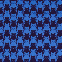 Kitty Kitty Tonal Cat Blue by Blank Quilting