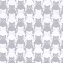Kitty Kitty Tonal Cat Grey by Blank Quilting