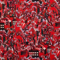 Tokyo Bots Red by Alexander Henry