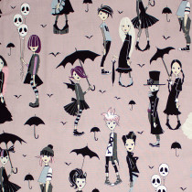 Going Goth Taupe by Alexander Henry Fabric