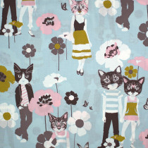 Cool Cats Grey/Blue by Alexander Henry Fabrics