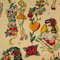 Don't Gamble With Love Antique by Alexander Henry Fabrics