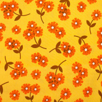 Butterscotch Daisies Yellow by Figo Fabrics