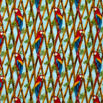 Birds in Paradise Bird Trellis Blue by Henry Glass Fabrics