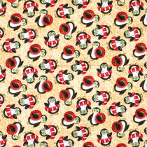Holiday Beach Penguins Tan by Blank Quilting