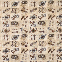 Unknown Voyage Keys & Locks Tan by Blank Quilting