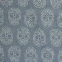 Libs Elliott Wildside The Watcher (Skulls) Metallic Grey By Andover Fabric