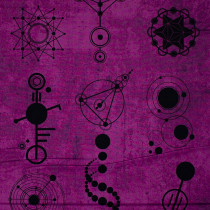 Declassified Crop Circles Amethyst Purple by Andover Fabric