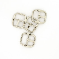 "Buckle w/ Center Bar 20mm (3/4"") Silver - 4pk"