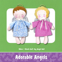 Adorable Angel Doll Soft Toy Sewing Pattern by Funky Friends Factory