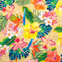 Island Sanctuary Floral Natural Digitally Printed Fabric by Robert Kaufman