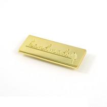Emmaline Bags Metal Bag Label: Handmade with Bird Gold