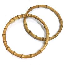 "Voodoo Bag Hardware Bamboo Handles 18cm (7"") - 1 pair"