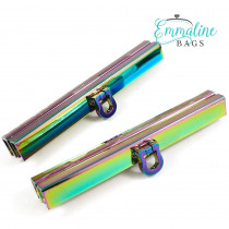 "Emmaline Bags Bar Channel Wallet Closure with Flip Clasp 11cm (4-1/2"") Iridescent Rainbow"