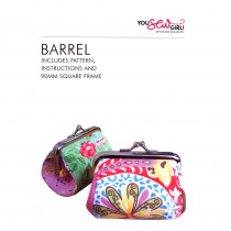 90mm Barrel Framed Purse Sewing Pattern (includes purse frame) by You Sew Girl