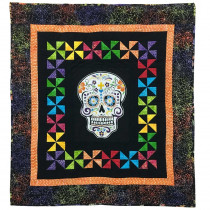 Batik Sugar Skull Quilt Kit by Voodoo Rabbit Fabric