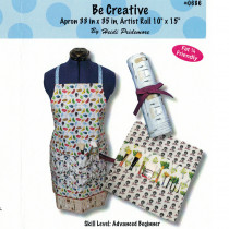 Be Creative Apron and Artist Roll Sewing Pattern from The Whimsical Workshop