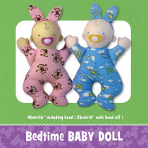 Bedtime Baby Doll Soft Toy Sewing Pattern by Funky Friends Factory
