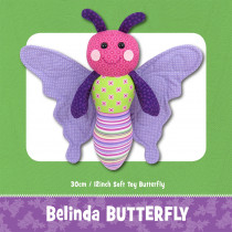 Belinda Butterfly Soft Toy Sewing Pattern by Funky Friends Factory