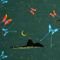 Charley Harper Barkcloth 2021 Brazil Real Dark Green by Birch Organic Fabric