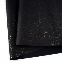 "Portuguese Natural Cork Black with Gold Flecks - Sizing from 70cm x 50cm (27-1/2"" x 19-1/2"")"