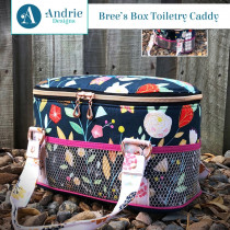 Bree's Box Toiletry Caddy Sewing Pattern by Andrie Designs