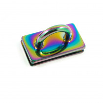 "Emmaline Bags Bridge Strap Connector 35mm (1-3/8"") wide Iridescent Rainbow"