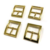 """Emmaline Bags Buckle w/ Center Bar 25mm (1"""") Gold - 4pk"""