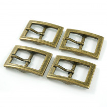 "Emmaline Bags Buckle w/ Center Bar 20mm (3/4"") Antique Brass - 4pk"