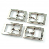 "Emmaline Bags Buckle w/ Center Bar 20mm (3/4"") Silver - 4pk"