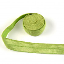 "byAnnie Fold-over Nylon elastic 15mm (5/8"") wide x 1.8m (2yd) Apple Green"