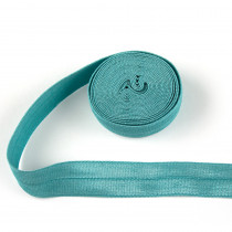 "byAnnie Fold-over Nylon Elastic 15mm (5/8"") wide x 1.8m (2yd) Roll Turquoise"