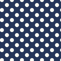 Le Creme Medium Dot Navy Blue by Riley Blake Designs