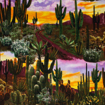 Southwest Landscape Desert Sunset Multi by Timeless Treasures