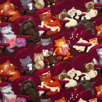 Scaredy Cats Wine by Timeless Treasures