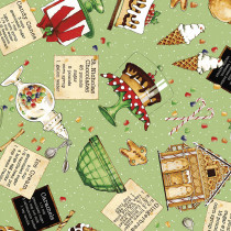 Snow Sweet Sweets Toss Green by Riley Blake Designs