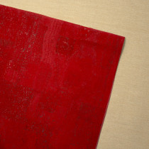 Portuguese Surface Cork Remnant Red Candy - 140cm X 49cm