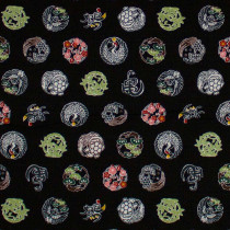 Japanese Medallions Black by Cosmo Textiles