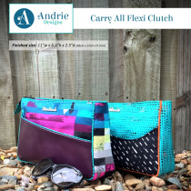 Carry All Flexi Clutch Sewing Pattern by Two Pretty Poppets