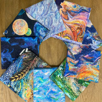 Celestial Journey FQ and Panel Pack - 9pc By 3 Wishes Fabric