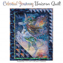 3 Wishes Fabric Celestial Journey Unicorn Quilt Kit