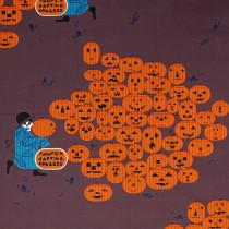 Charley Harper Halloween Jack-O-Lantern by Birch Organic Fabrics